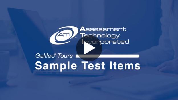 Sample Test Items video